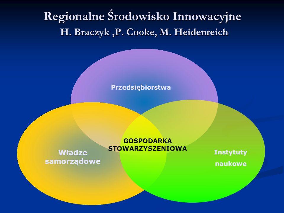Regionalne Środowisko Innowacyjne H. Braczyk ,P. Cooke, M. Heidenreich