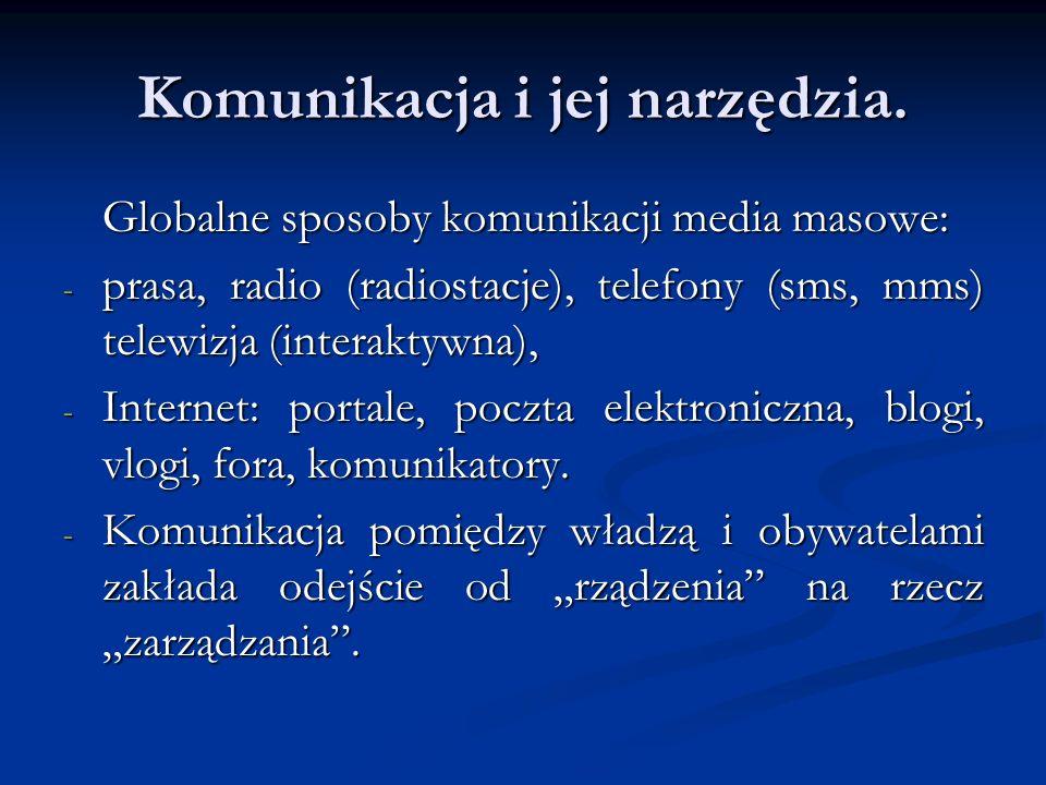 Komunikacja i jej narzędzia.