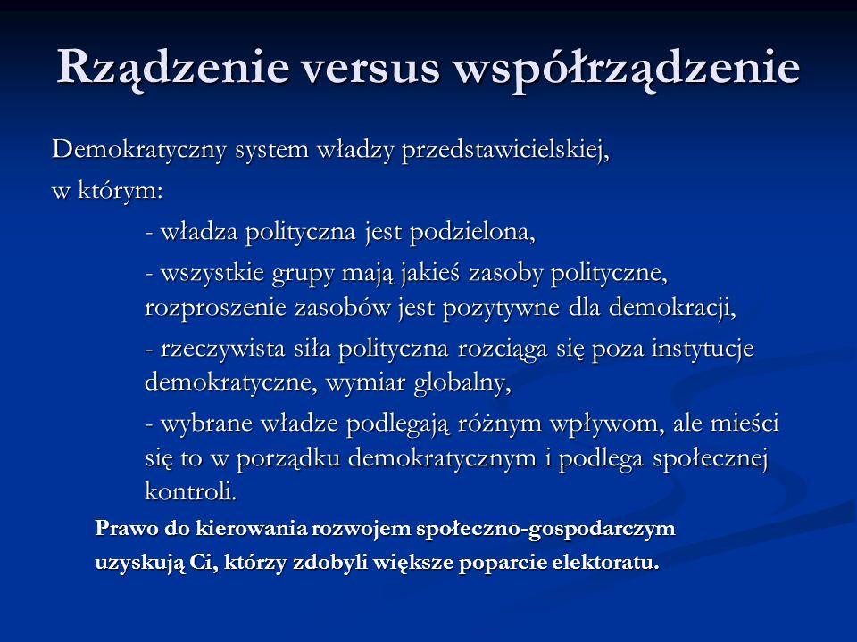 Rządzenie versus współrządzenie
