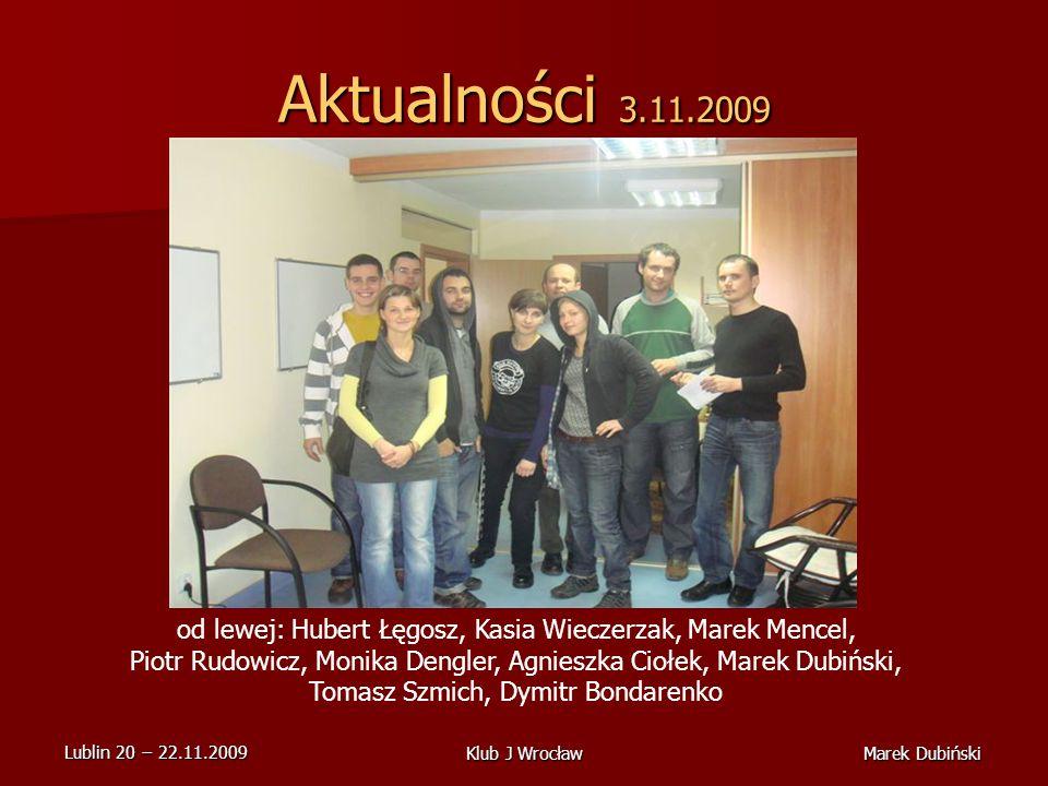 Aktualności 3.11.2009