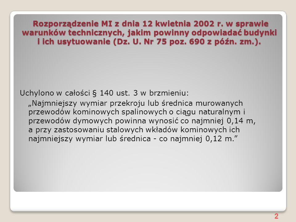 Rozporządzenie MI z dnia 12 kwietnia 2002 r
