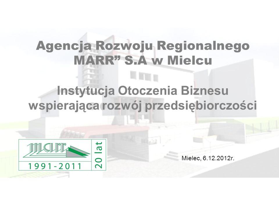 Agencja Rozwoju Regionalnego MARR S