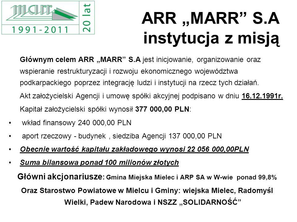 "ARR ""MARR S.A instytucja z misją"