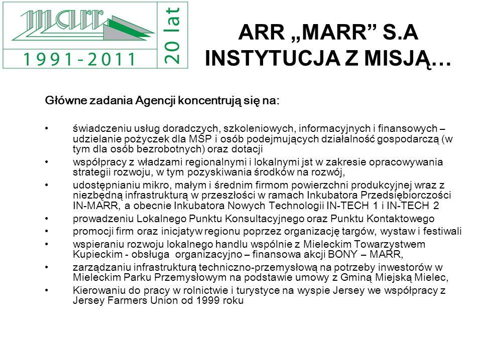 "ARR ""MARR S.A INSTYTUCJA Z MISJĄ…"