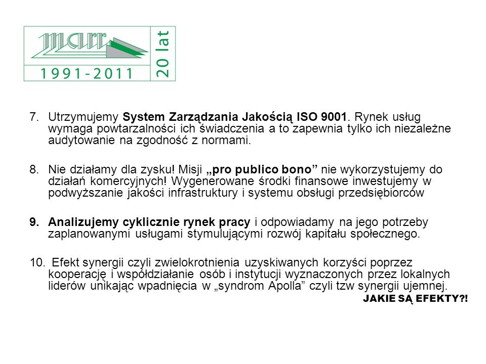 Utrzymujemy System Zarządzania Jakością ISO 9001
