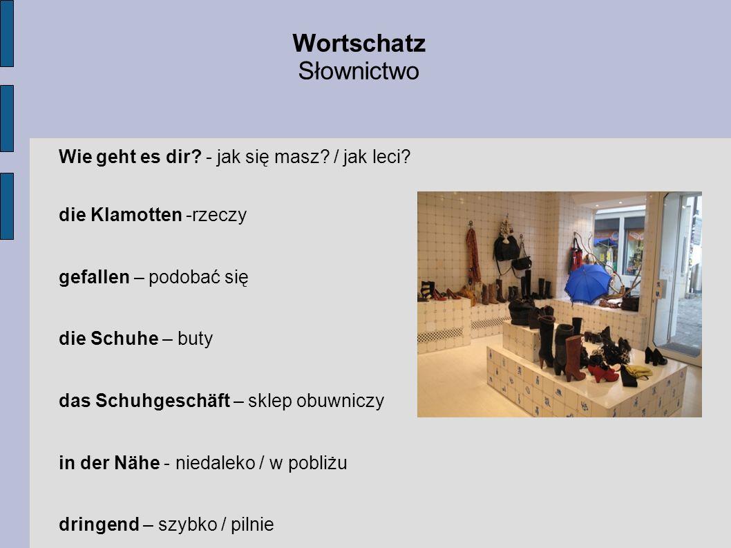 Wortschatz Słownictwo Wie geht es dir - jak się masz / jak leci
