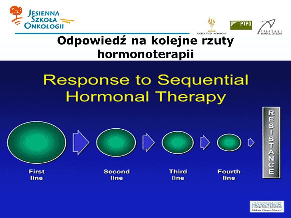 Odpowiedź na kolejne rzuty hormonoterapii