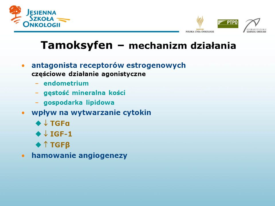 Tamoksyfen – mechanizm działania