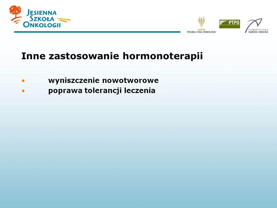 Inne zastosowanie hormonoterapii