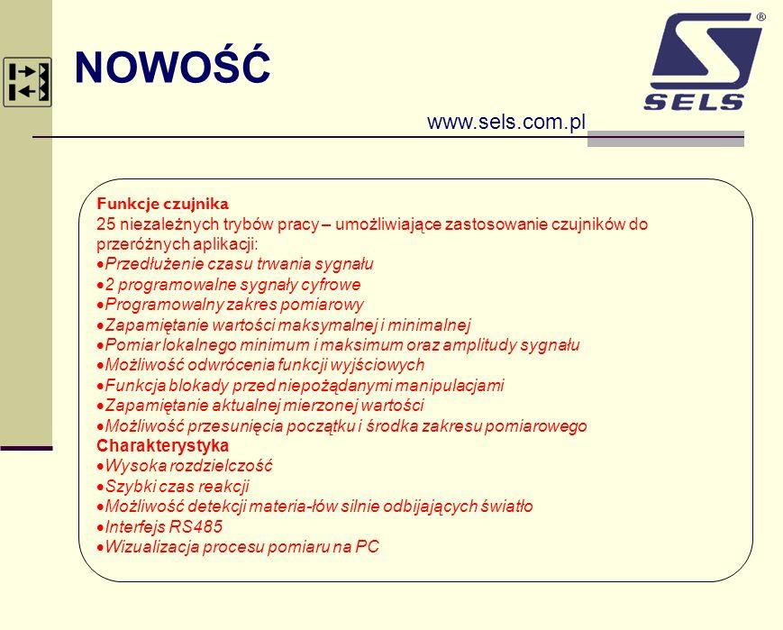 NOWOŚĆ www.sels.com.pl Funkcje czujnika