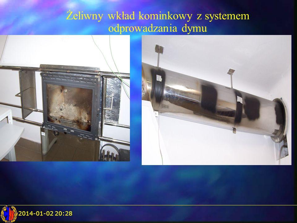 Żeliwny wkład kominkowy z systemem odprowadzania dymu