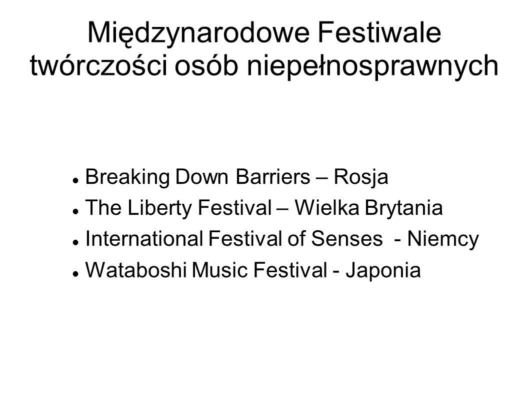 Międzynarodowe Festiwale twórczości osób niepełnosprawnych