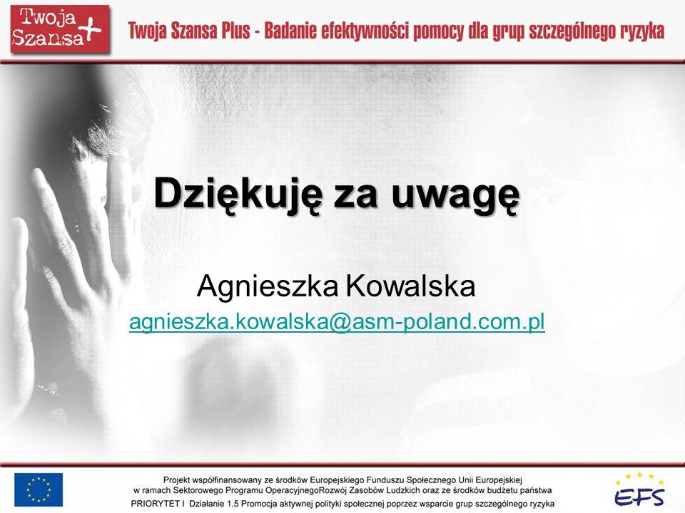 Dziękuję za uwagę Agnieszka Kowalska agnieszka. kowalska@asm-poland