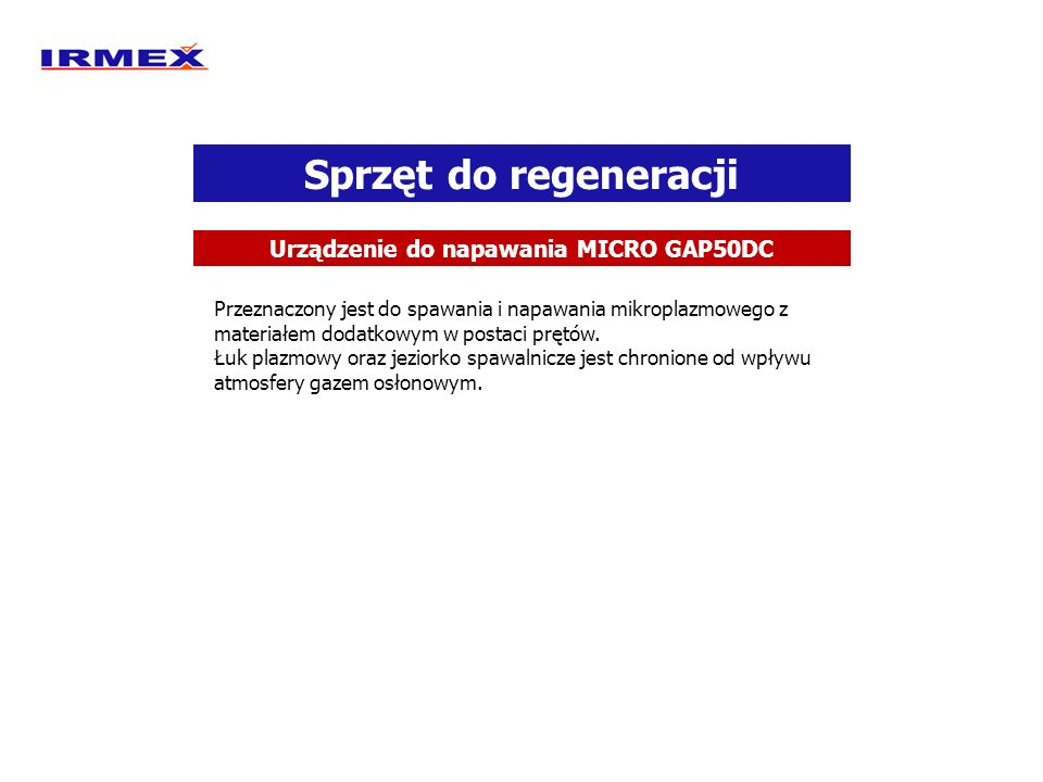 Urządzenie do napawania MICRO GAP50DC