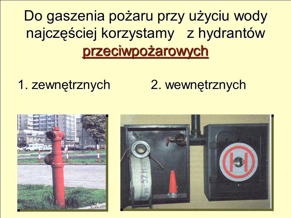 Do gaszenia pożaru przy użyciu wody najczęściej korzystamy z hydrantów przeciwpożarowych