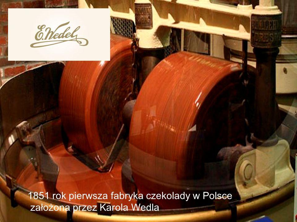 1851 rok pierwsza fabryka czekolady w Polsce