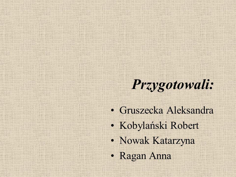 Przygotowali: Gruszecka Aleksandra • Kobylański Robert