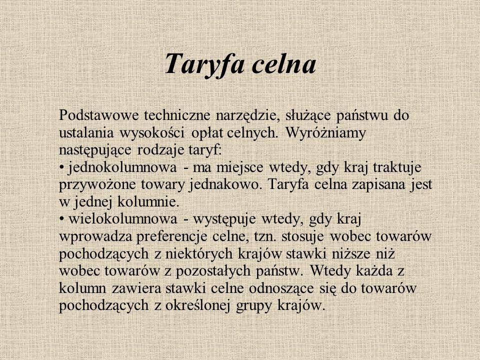 Taryfa celna