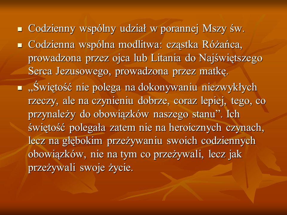 Codzienny wspólny udział w porannej Mszy św.