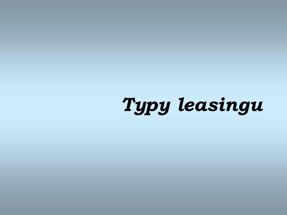 Typy leasingu