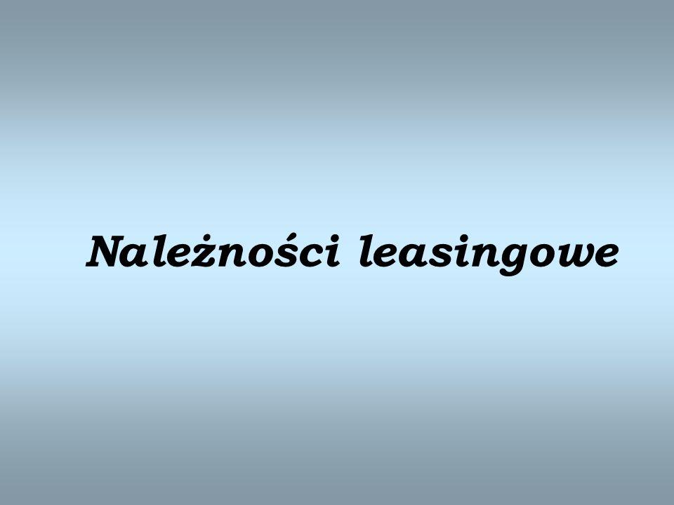 Należności leasingowe