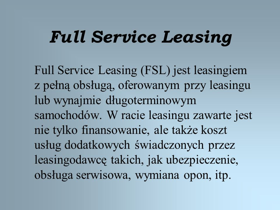 Full Service Leasing