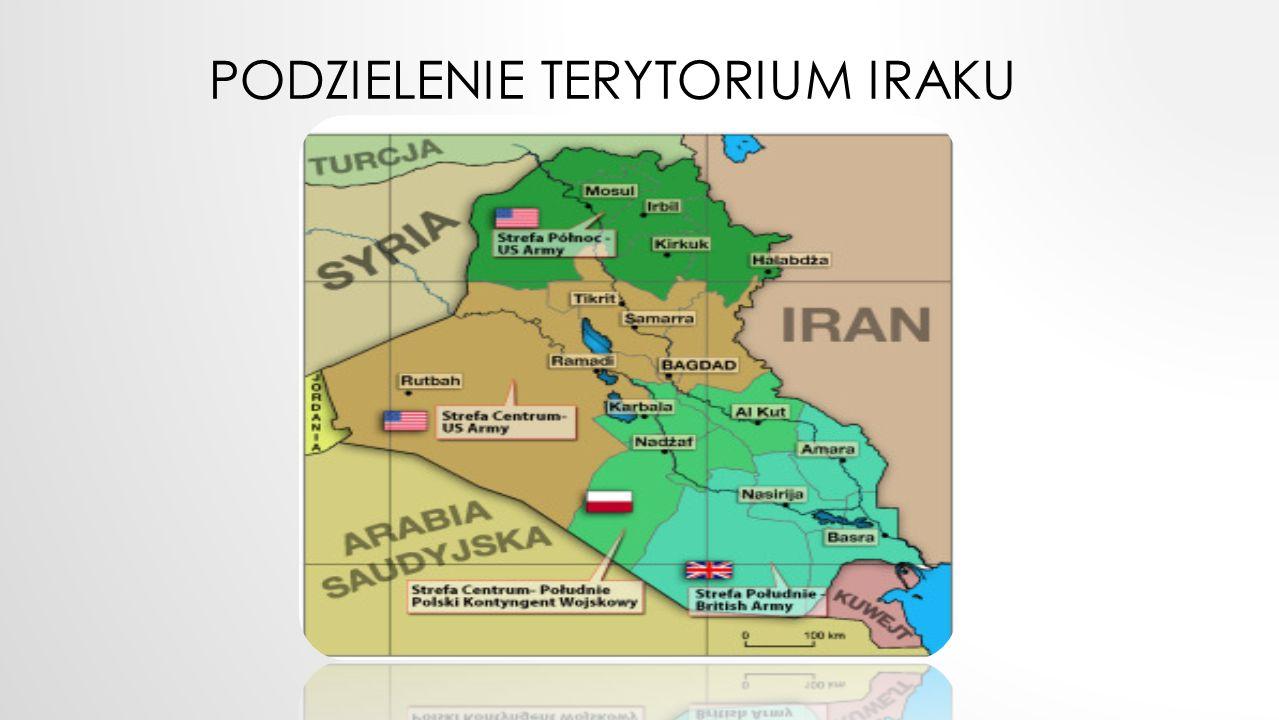 Podzielenie terytorium Iraku