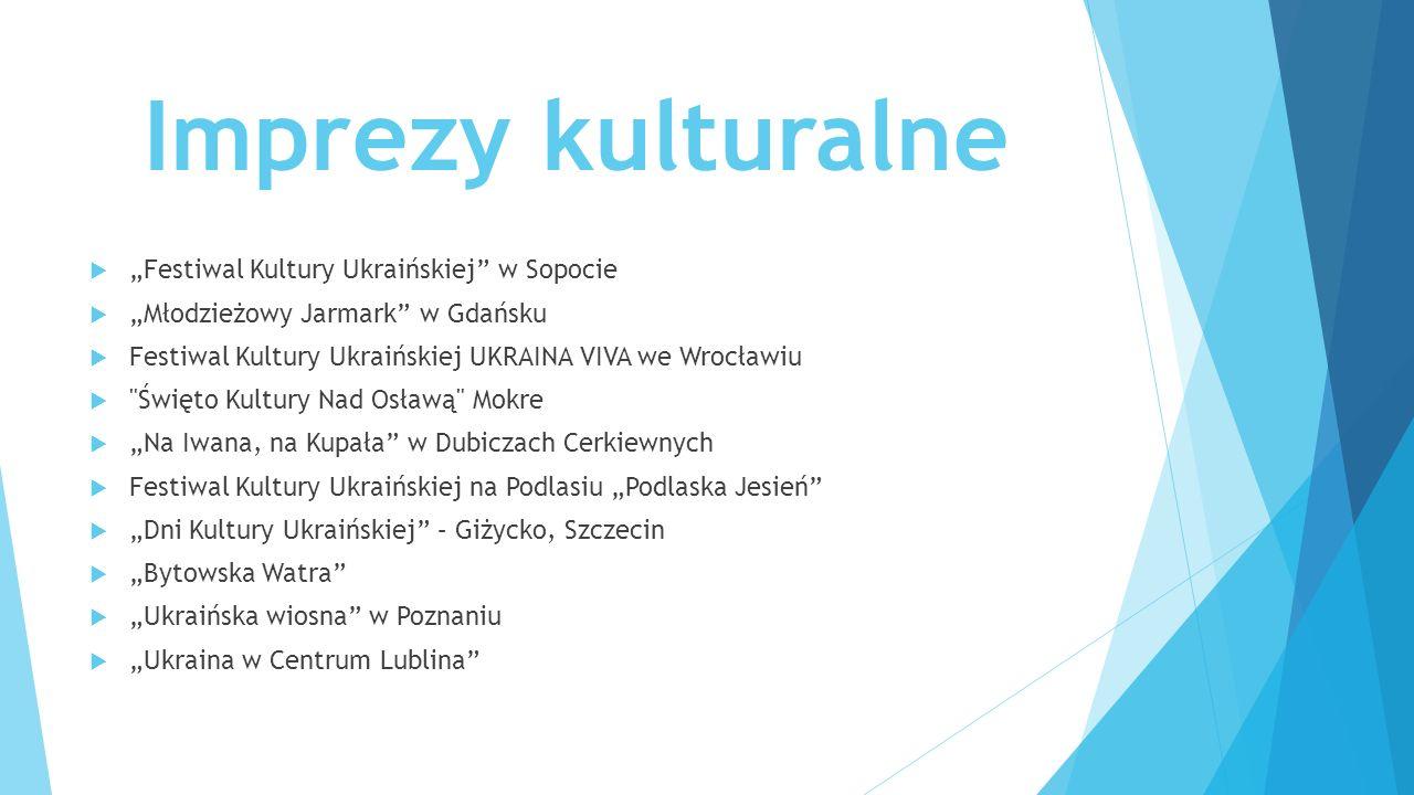 """Imprezy kulturalne """"Festiwal Kultury Ukraińskiej w Sopocie"""