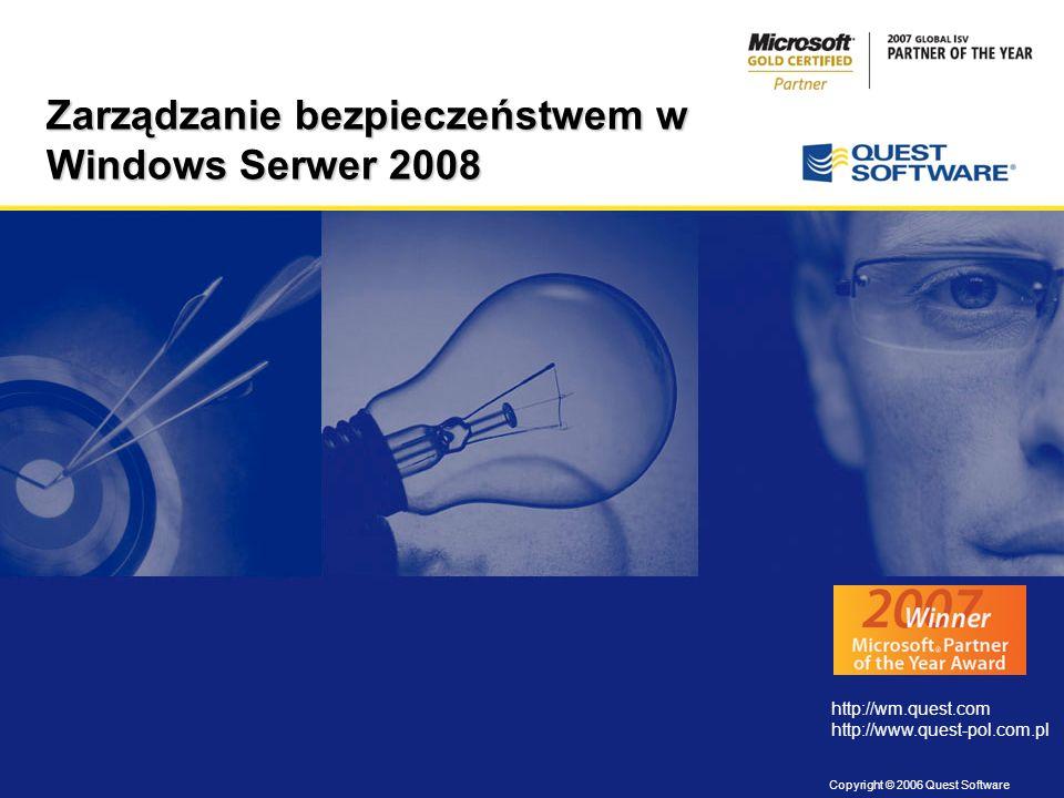 Zarządzanie bezpieczeństwem w Windows Serwer 2008