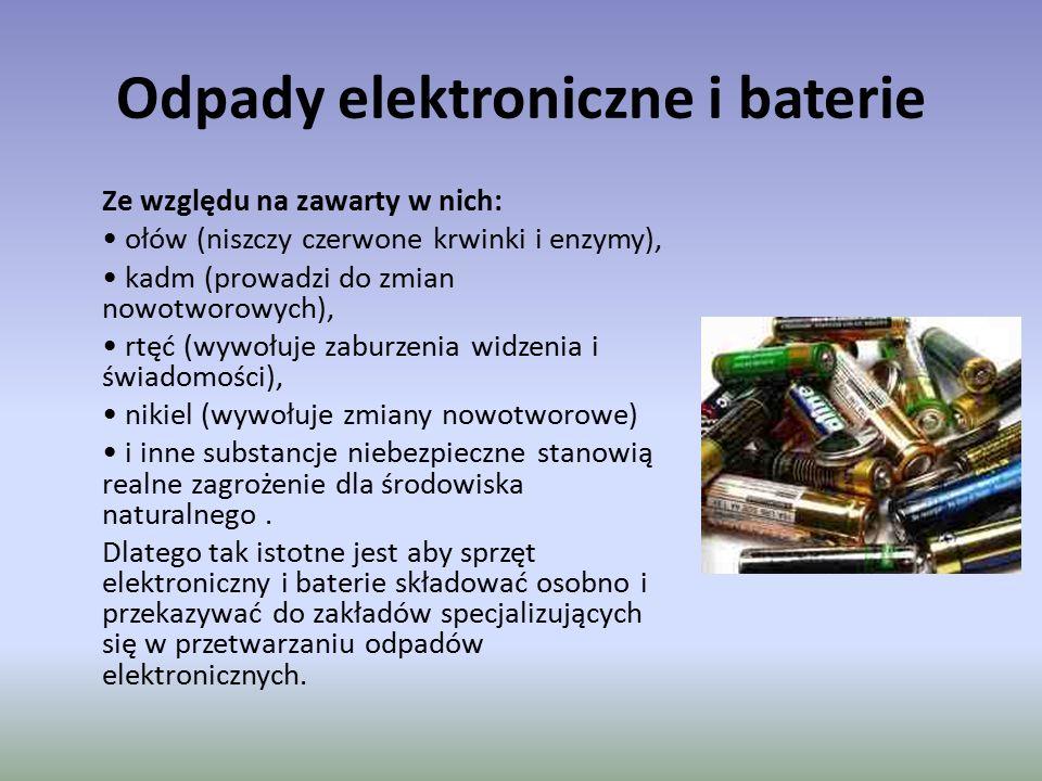 Odpady elektroniczne i baterie