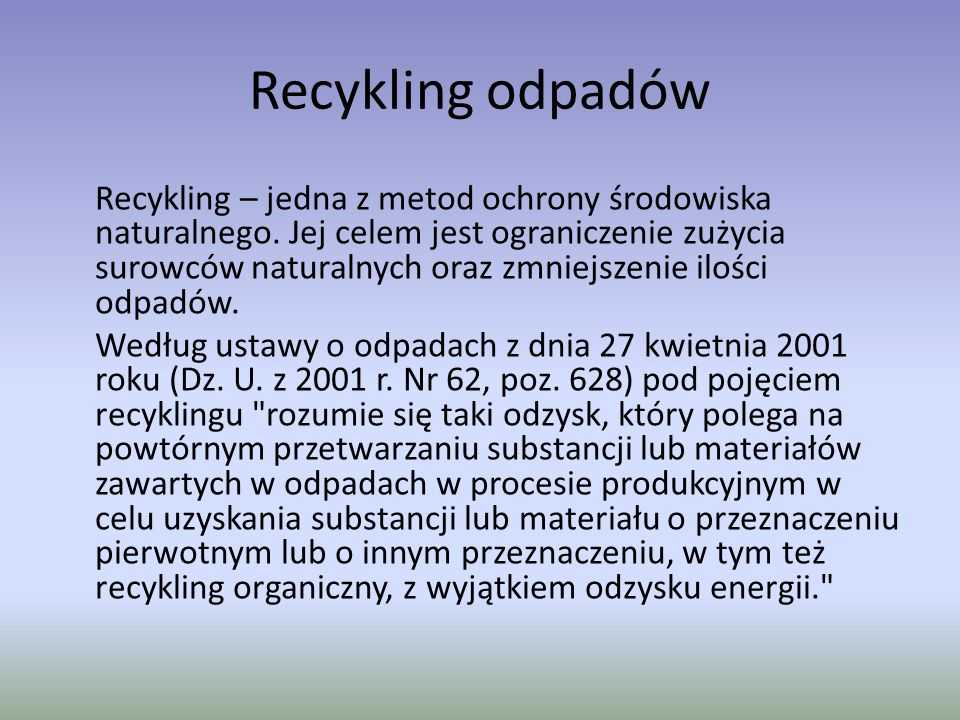 Recykling odpadów
