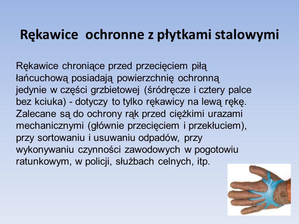 Rękawice ochronne z płytkami stalowymi