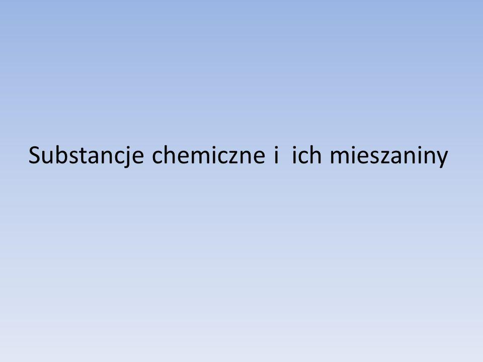 Substancje chemiczne i ich mieszaniny