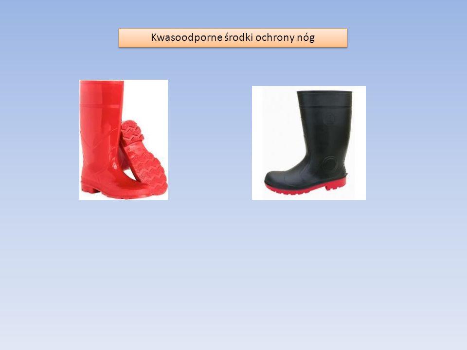 Kwasoodporne środki ochrony nóg