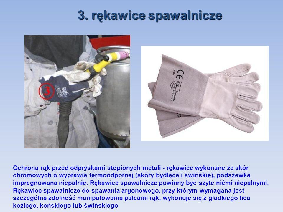 3. rękawice spawalnicze