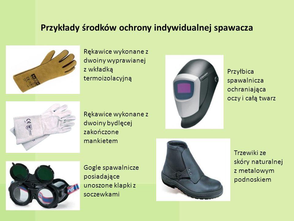 Przykłady środków ochrony indywidualnej spawacza
