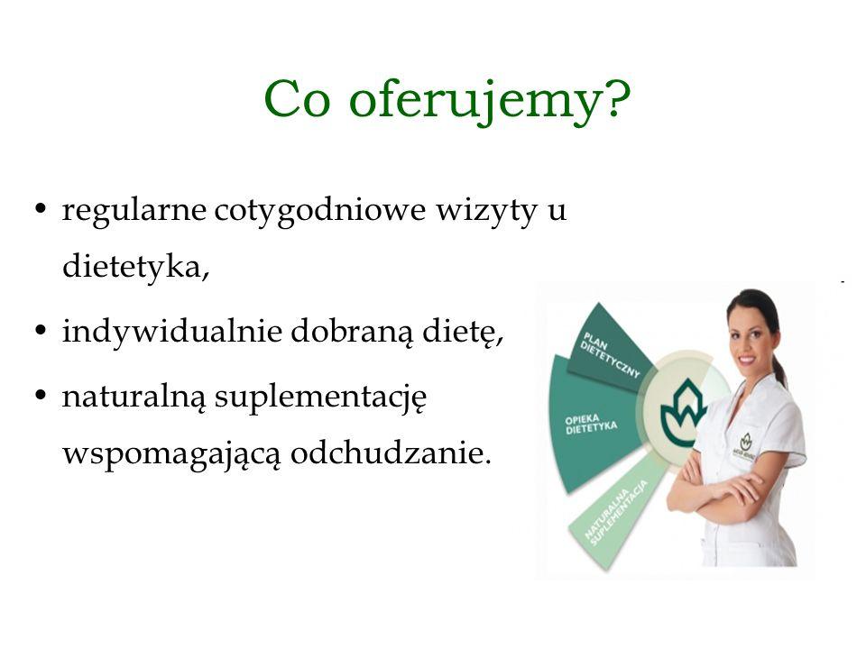 Co oferujemy regularne cotygodniowe wizyty u dietetyka,