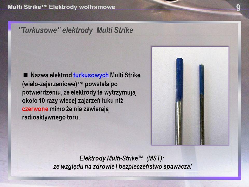 Turkusowe elektrody Multi Strike