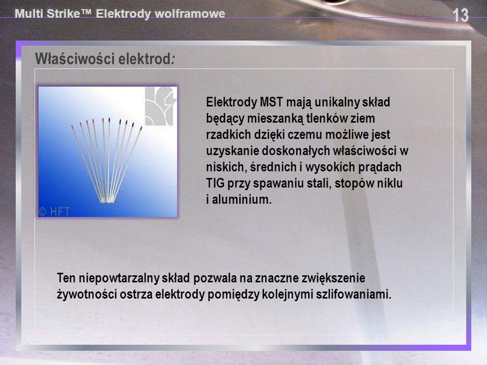Właściwości elektrod: