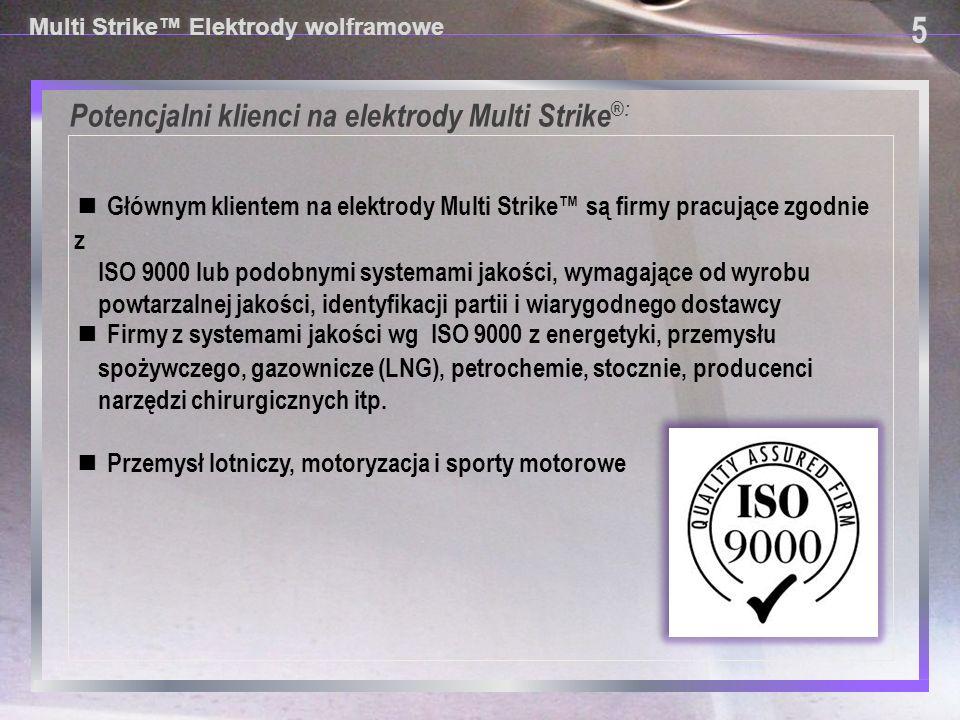 Potencjalni klienci na elektrody Multi Strike®: