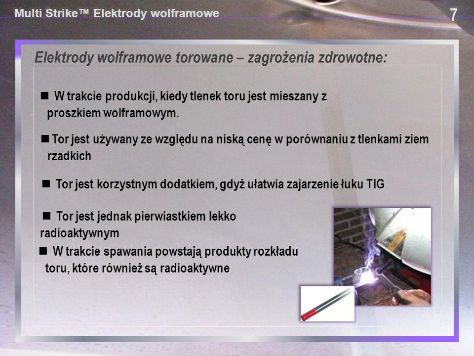 Elektrody wolframowe torowane – zagrożenia zdrowotne: