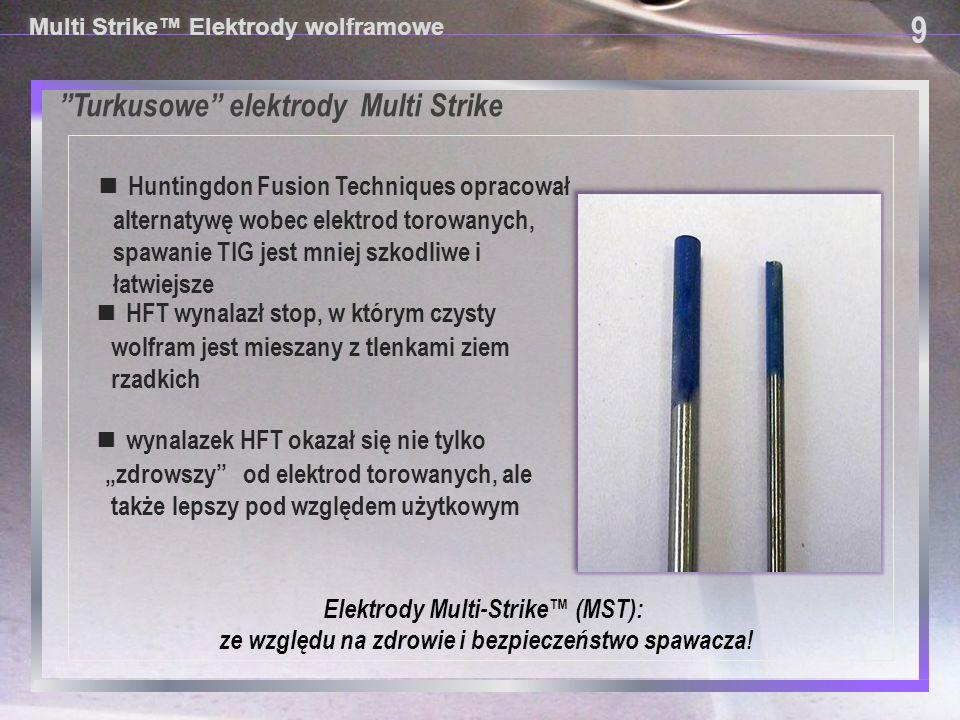 9 Turkusowe elektrody Multi Strike
