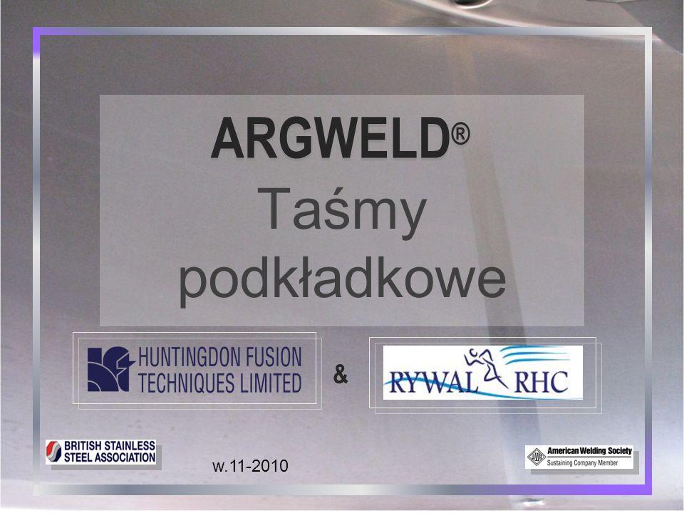 ARGWELD® Taśmy podkładkowe & w.11-2010 1