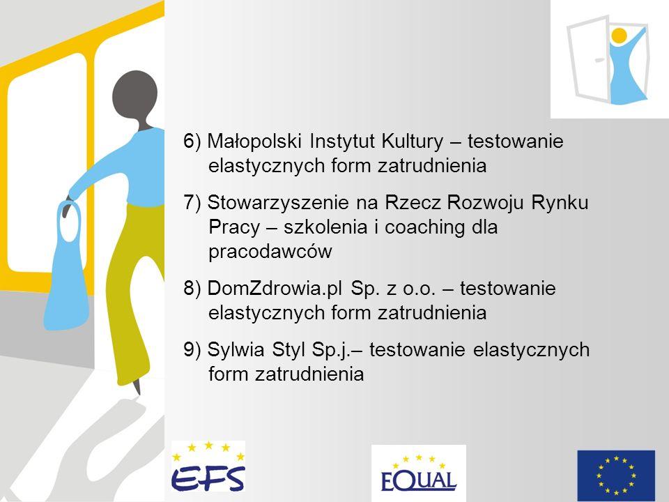 6) Małopolski Instytut Kultury – testowanie elastycznych form zatrudnienia