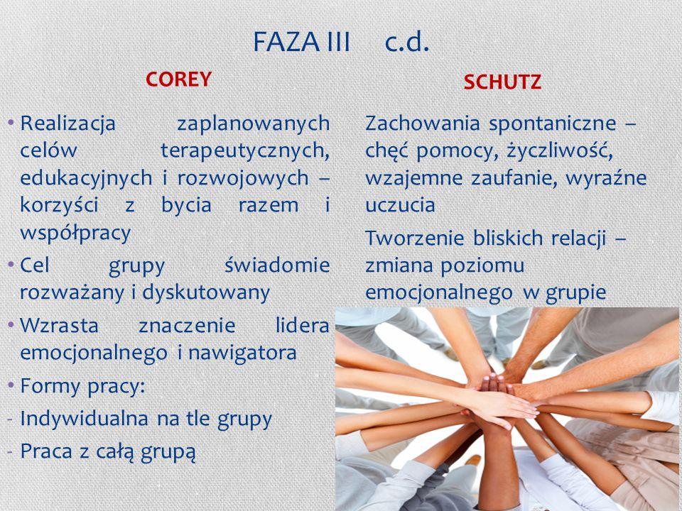 FAZA III c.d. COREY SCHUTZ