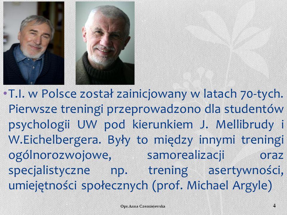T. I. w Polsce został zainicjowany w latach 70-tych