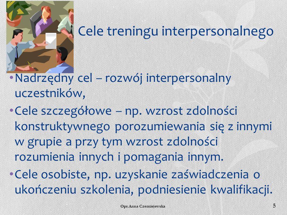 Cele treningu interpersonalnego