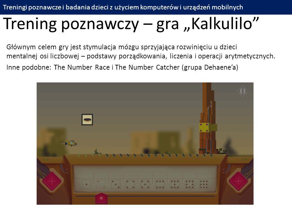 """Trening poznawczy – gra """"Kalkulilo"""