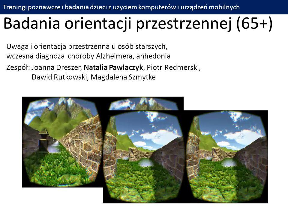 Badania orientacji przestrzennej (65+)