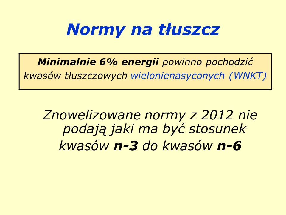 Znowelizowane normy z 2012 nie podają jaki ma być stosunek